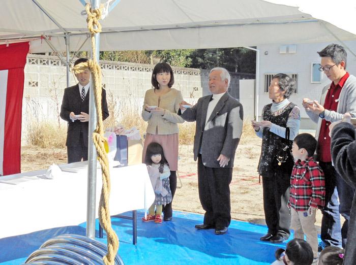 ヤマックス平屋の家地鎮祭熊本市東区小山U様邸
