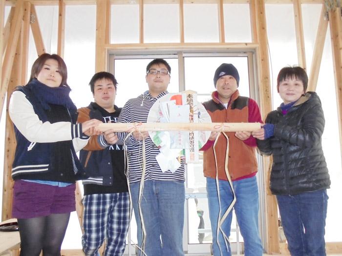ヤマックス炭の家熊本市北区植木町H様邸上棟式