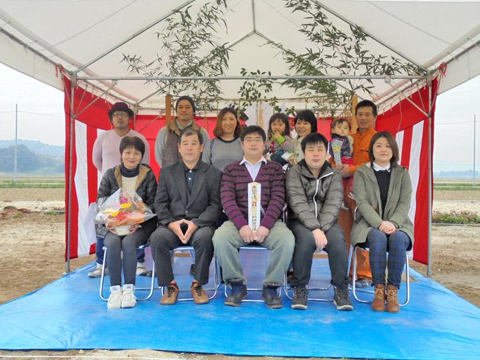 ヤマックス炭の家地鎮祭鯛熊本市北区植木町H様邸
