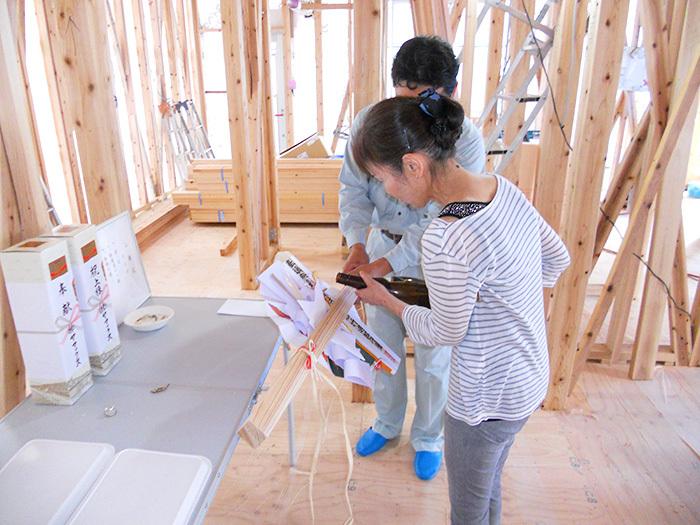 ヤマックス炭の家熊本新築ナチュラルモダン上棟式