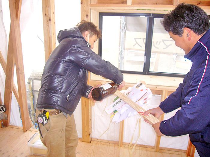 ヤマックスyamax家新築薪ストーブ平屋益城上棟式