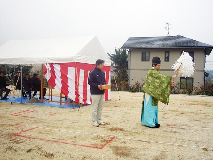 ヤマックスyamax家薪ストーブ平屋益城Y様地鎮祭