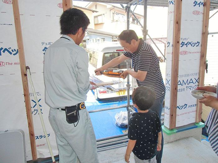 ヤマックスyamax新築炭の家西区春日H様邸上棟式1.jpg