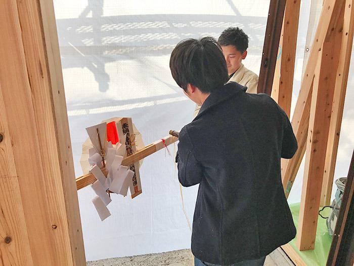 ヤマックスyamax新築熊本炭の家須屋駅東分譲地I邸上棟式4.jpg
