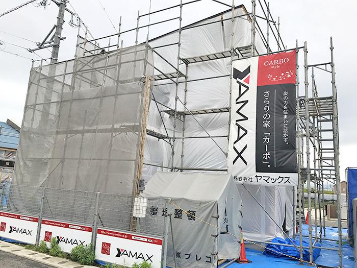 ヤマックスyamax新築熊本炭の家熊本市南区ネイビー金属壁K邸上棟式1.jpg
