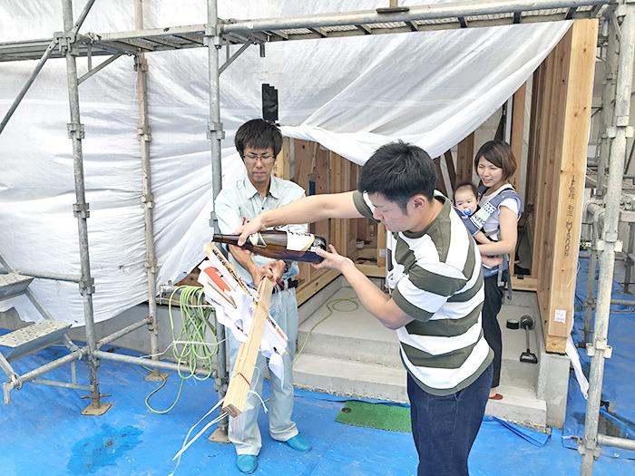 ヤマックスyamax新築熊本炭の家熊本市南区ネイビー金属壁K邸上棟式4.jpg