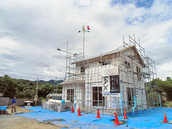 ヤマックスyamax新築熊本炭の家球磨郡山江村K邸上棟式1.jpg