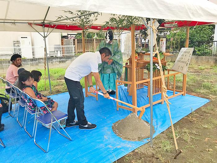 ヤマックスyamax新築熊本炭の家O邸地鎮祭1.jpg