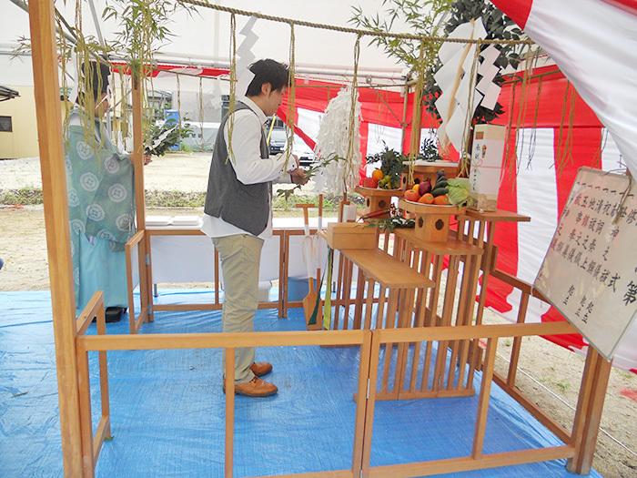 熊本市東区小山U様邸地鎮祭
